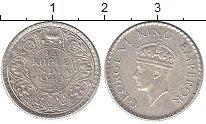 Изображение Монеты Индия 1/4 рупии 1940 Серебро XF Георг VI