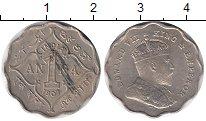 Изображение Монеты Индия 1 анна 1907 Медно-никель XF Эдуард VII