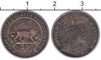 Изображение Монеты Восточная Африка 25 центов 1910 Серебро XF- Эдвард VII