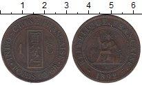 Изображение Монеты Индокитай 1 сантим 1892 Бронза XF