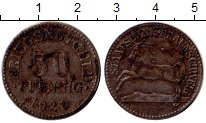 Изображение Монеты Брауншвайг 50 пфеннигов 1920 Железо VF