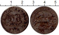 Изображение Монеты Германия Брауншвайг 50 пфеннигов 1918 Железо VF
