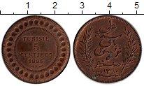 Изображение Монеты Тунис 5 сантим 1893 Бронза XF+