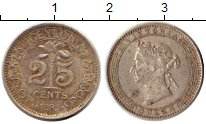 Изображение Монеты Цейлон 25 центов 1893 Серебро XF