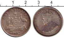 Изображение Монеты Австралия 1 шиллинг 1927 Серебро XF-