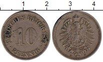 Изображение Монеты Германия 10 пфеннигов 1873 Медно-никель XF G