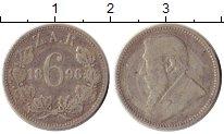 Изображение Монеты ЮАР 6 пенсов 1896 Серебро VF