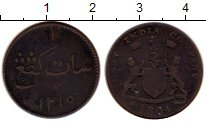 Изображение Монеты Азия Индия 1 кеппинг 1804 Медь VF
