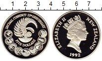 Изображение Монеты Австралия и Океания Новая Зеландия 5 долларов 1992 Серебро Proof