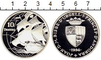 Изображение Монеты Андорра 10 динерс 1996 Серебро Proof