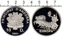 Изображение Монеты Европа Андорра 10 динерс 2001 Серебро Proof
