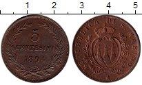 Изображение Монеты Сан-Марино 5 чентезимо 1894 Медь XF+