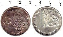 Изображение Монеты Португалия 5 евро 2003 Серебро UNC- 150 лет португальски