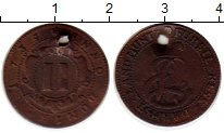 Изображение Монеты Германия Гессен-Дармштадт 2 крейцера 1735 Медь VF