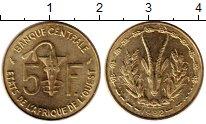 Изображение Монеты Западная Африка 5 франков 1982 Латунь UNC-