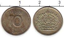 Изображение Монеты Европа Швеция 10 эре 1960 Серебро XF
