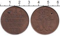 Изображение Монеты Дания 1 скиллинг 1771 Медь VF