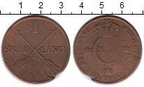 Изображение Монеты Европа Швеция 1 скиллинг 1821 Медь VF