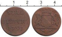 Изображение Монеты Европа Утрехт 1 дьюит 1791 Медь XF-