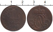 Изображение Монеты Германия Мюнстер 3 пфеннига 1754 Медь VF