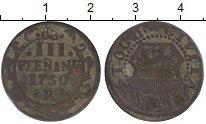 Изображение Монеты Росток 3 пфеннига 1750 Медь VF