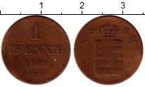 Изображение Монеты Саксен-Майнинген 1 пфенниг 1846 Медь VF