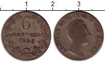 Изображение Монеты Баден 6 крейцеров 1833 Серебро VF