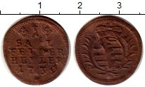Изображение Монеты Саксе-Кобург-Саалфельд 1 геллер 1739 Медь VF