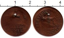 Изображение Монеты Германия Брауншвайг-Вольфенбюттель 1 пфенниг 1730 Медь F