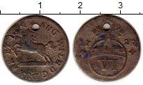 Изображение Монеты Брауншвайг-Вольфенбюттель 6 пфеннигов 1727 Серебро VF Август Вильгельм
