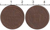 Изображение Монеты Германия Висмар 3 пфеннига 1799 Медь VF