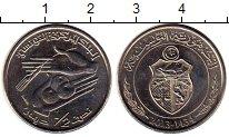 Изображение Мелочь Тунис 1/2 динара 2013 Медно-никель UNC