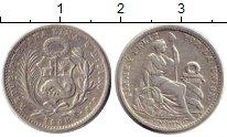 Изображение Монеты Перу 1 динер 1906 Серебро XF