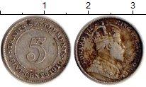 Изображение Монеты Великобритания Стрейтс-Сеттльмент 5 центов 1910 Серебро VF