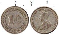 Изображение Монеты Стрейтс-Сеттльмент 10 центов 1918 Серебро VF Георг V