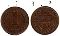 Изображение Монеты Латвия 1 сантим 1939 Медь XF