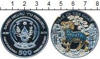 Изображение Монеты Африка Руанда 500 франков 2015 Серебро Proof