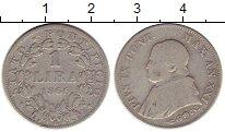 Изображение Монеты Европа Ватикан 1 лира 1866 Серебро XF-