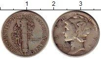 Изображение Монеты Северная Америка США 1 дайм 1941 Серебро XF