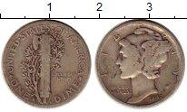Изображение Монеты Северная Америка США 1 дайм 1942 Серебро XF-