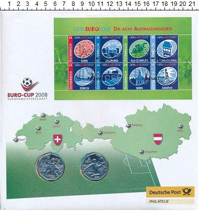 Изображение Подарочные монеты Европа Австрия Футбол 2008 Серебро UNC