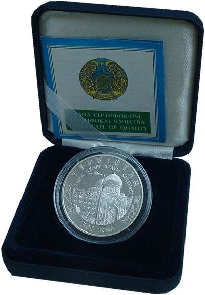 Изображение Подарочные монеты Казахстан 100 тенге 2000 Серебро Proof