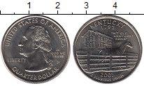 Изображение Мелочь США 1/4 доллара 2001 Медно-никель UNC- D. Кентукки 1792