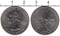 Изображение Мелочь США 1/4 доллара 2004 Медно-никель UNC- D. Техас 1845