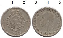 Изображение Монеты Европа Швеция 1 крона 1946 Серебро XF