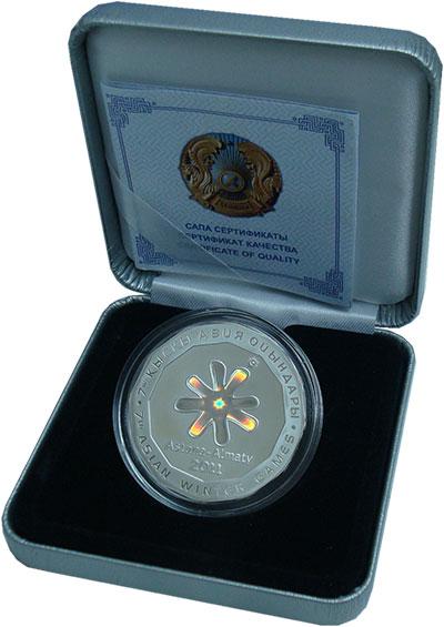 Изображение Подарочные монеты СНГ Казахстан 500 тенге 2010 Серебро Proof