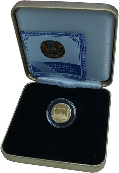 Изображение Подарочные монеты Казахстан 500 тенге 2011 Золото Proof