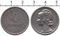 Изображение Монеты Португалия 4 сентаво 1917 Медно-никель XF+