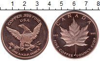 Изображение Мелочь США 1 унция 0 Медь UNC- Канада, Кленовый лис
