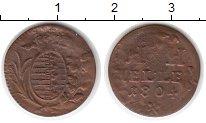 Изображение Монеты Германия Саксен-Хильдбургхаузен 1 геллер 1804 Медь VF